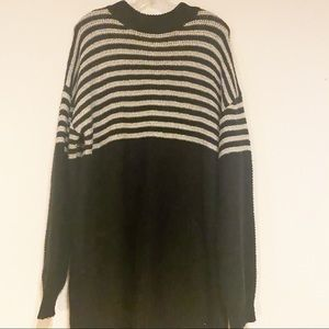 Volcom Knit Sweater Long Sleeves Stripes Large